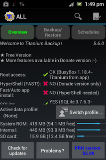 Setting Titanuim Backup