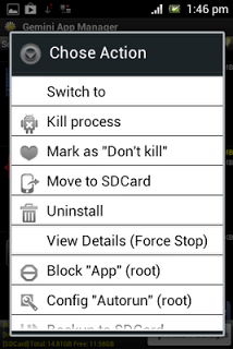 Setting Gemini App Manager
