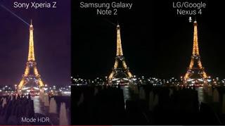 Perbandingan kamera Xperia Z vs Galaxy Note 2 vs Nexus 4
