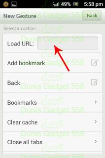 Menambah perintah gesture pada Dolphin Browser Mini