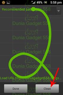 Mengatur pola gesture pada Dolphin Browser Mini
