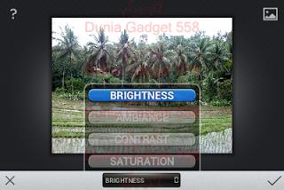 Pengaturan brightness Snapseed