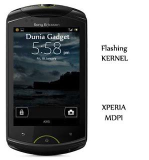 Cara flash kernel Xperia Mini, Mini Pro, Active, LWW