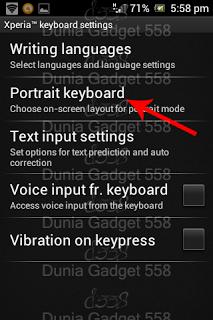 Mengubah keyboard android menjadi qwerty