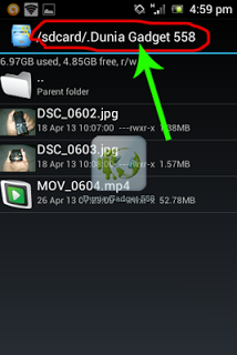 Menyembunyikan video pada Android