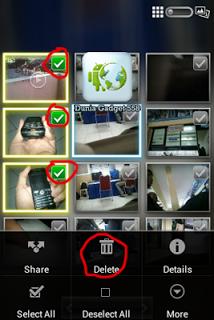 Menghapus thumbnail foto di Android