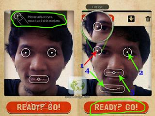 Aplikasi Android mengubah wajah menjadi jelek