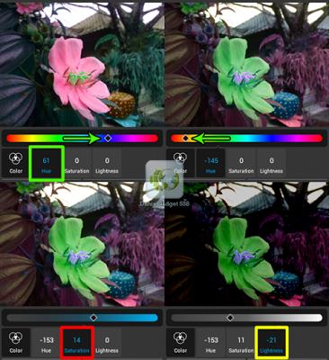 Mengubah warna foto Android dan iPhone