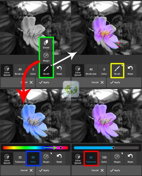 Mengedit ekspose warna gambar pada Android dan iPhone