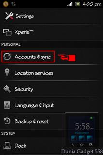 Mengatur akun email pada Android