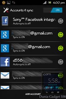 Melihat akun email pada Android