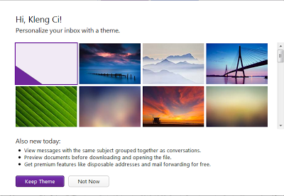 Tema baru Yahoo mail