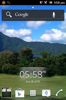 Contoh screenshot pada smartphone Android