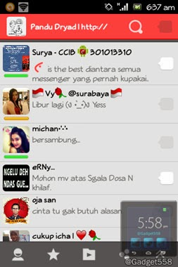 Aplikasi chatting di Android