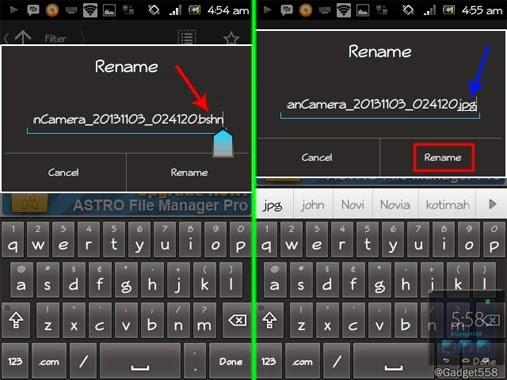mengganti format file pada Android
