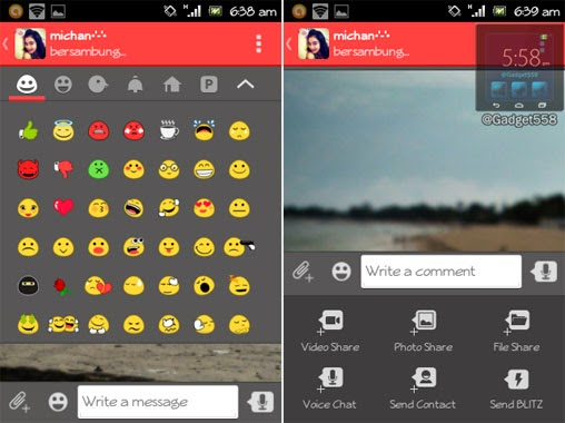 Tampilan screenshot catfiz android messenger