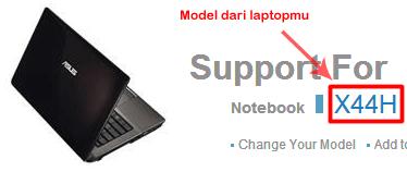 Mencari driver untuk laptop ASUS