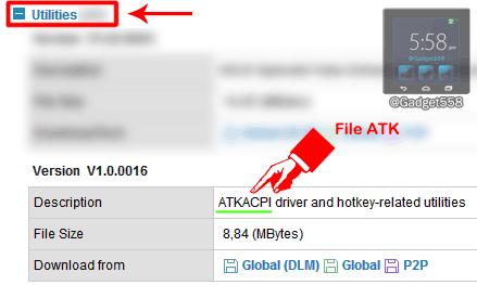 Download ATK Package untuk laptop ASUS