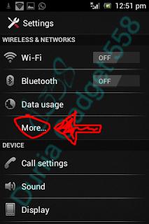 Setting koneksi Android