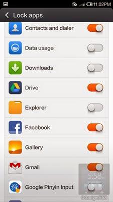 Fitur lock apps pada xiaomi redmi note