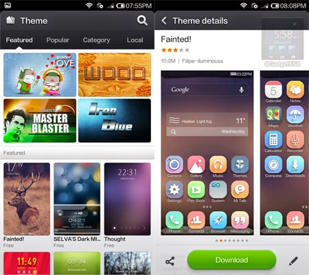 Tema pada Xiaomi Redmi Note