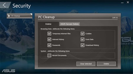 Fitur PC Cleanup ASUS A4310