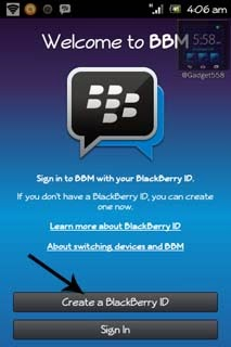 Cara membuat BlackBerry ID di Android