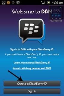 Cara membuat BlackBerry ID di Android