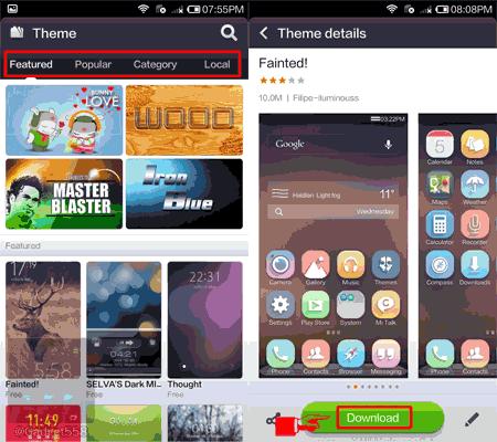 Mengganti tema pada Xiaomi