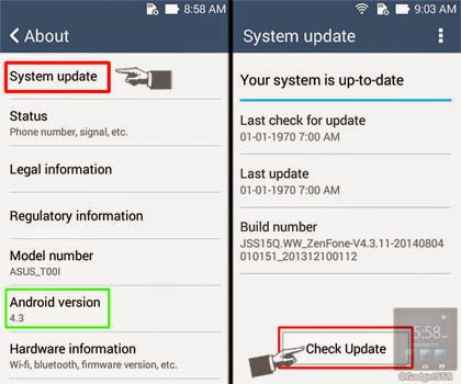 Update Zenfone ke Android Kitkat