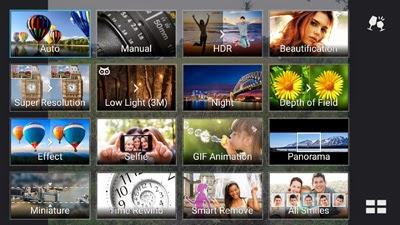 Menu kamera ASUS Zenfone 2