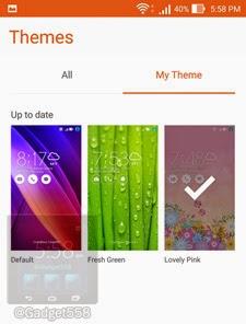 Aplikasi theme pada Zenfone 2