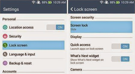 Mengatur lockscreen Zenfone