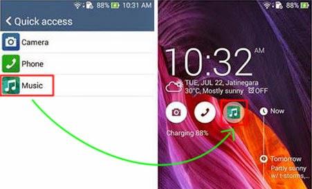 Mengganti shortcut aplikasi di lockscreen