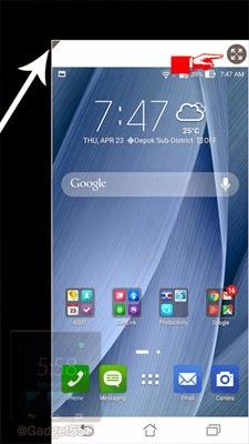 One hand mode ASUS Zenfone 2
