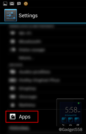 Setting aplikasi android