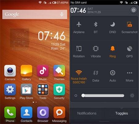 Tampilan Xiaomi
