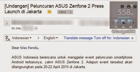 Undangan launching ASUS Zenfone 2