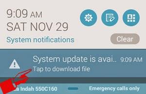 Pemberitahuan update system