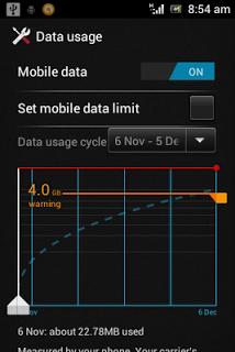 Mengatur penggunaan internet Android