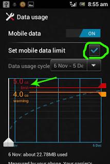 Mengatur besaran penggunaan data