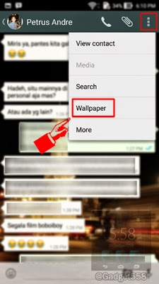 Mengganti wallpaper chat whatsapp