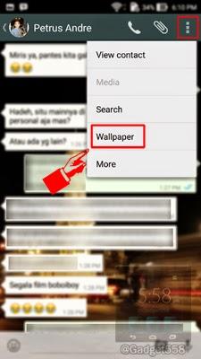 Mengganti wallpaper chat whatsapp