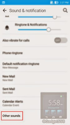 Mengatur getaran saat menyentuh Zenfone 2