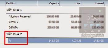 Mendeteksi SD card di minitool