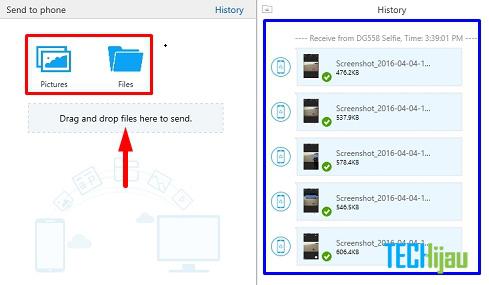 Mengirim file dari laptop ke hape via shareit