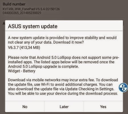 Update lollipop asus fonepad