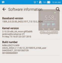 Firmware Zenfone 2 v2.17