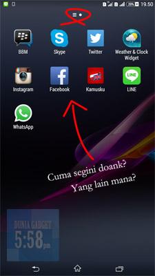 Aplikasi di Sony Xperia menghilang