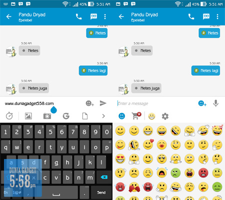 Chat window bbm material design